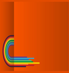 orange background with rainbow vector image