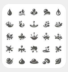 Water drop icons set vector image vector image
