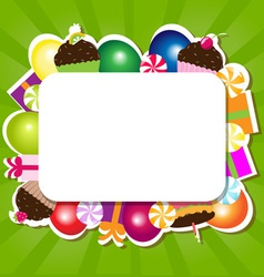 Confectionery Frame vector image vector image