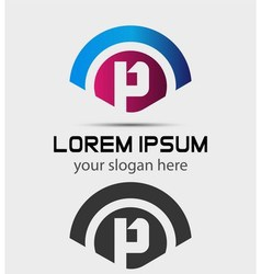 Letter P Logo Design Creative Symbol of letter P vector image