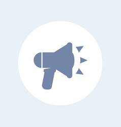 loudspeaker icon isolated over white vector image
