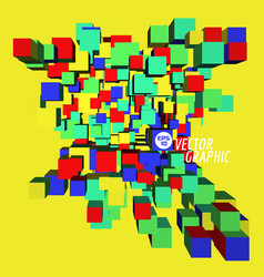 3d cubic design vector