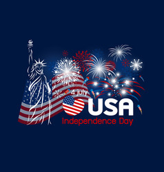 4 july independence day usa design vector