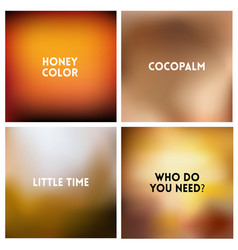 abstract brown blurred background set vector image