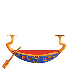 Ancient egypt wooden boat for sun god trip vector