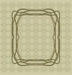 Art nouveau decorative frame art deco style border vector