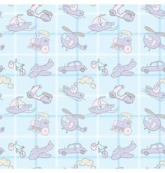 Baby Seamless Wallpaper Transportation vector