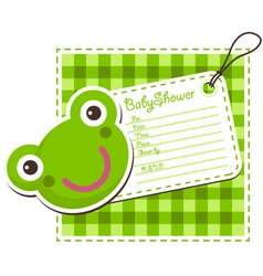 Baby Shower Frog Invitation Card vector image