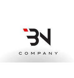 Bn logo letter design vector