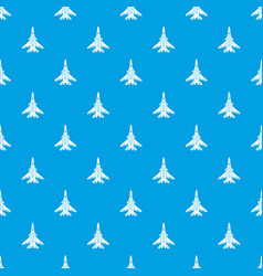 bomber pattern seamless blue vector image