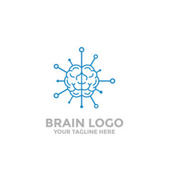 brain logo template brain tech brain icon vector image