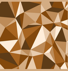 brown polygon abstract triangle background vector image