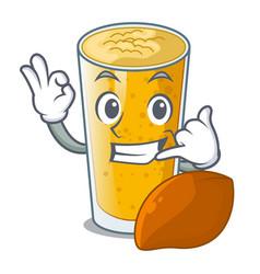 Call me lassi mango in the character fridge vector