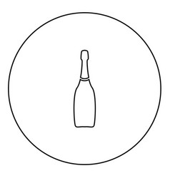 Champagne black icon in circle outline vector