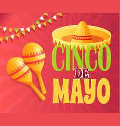 cinco de mayo party invitation poster vector image
