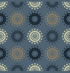 Circle symmetry different seamless pattern vector
