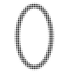 Contour ellipse halftone icon vector