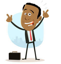 cool happy african businessman vector image