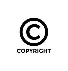 Copyright icon design template isolated vector