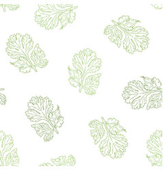 Coriander hand drawn seamless pattern vector