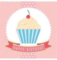 cupcake label vector image