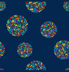 Cute memphis style seamless geometric pattern with vector