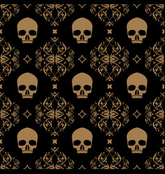 decorative floral seamless pattern in vintage vector image