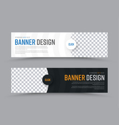 design of horizontal web banners with vector image