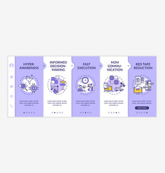 Digital business agility strategy onboarding vector