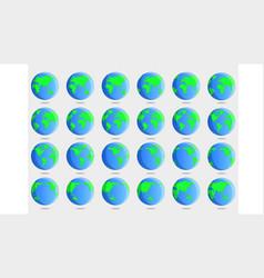 Earth frame frame rotation animation vector