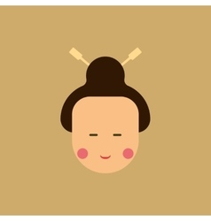 East woman of chinese new year vector
