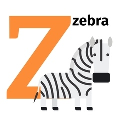 English animals zoo alphabet letter Z vector