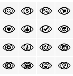 Expressions in the eyes vector image