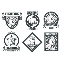 Fighting club mma lucha libre vintage vector