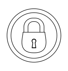 Figure lock icon image design vector