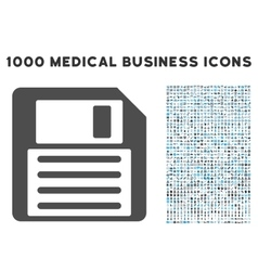 Floppy Icon with 1000 Medical Business Symbols vector image