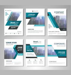 flyer presentation template vector image