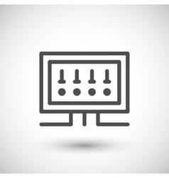 Fusebox line icon vector