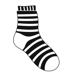 Fuzzy sock icon simple style vector