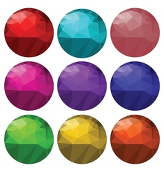 Glass spheres vector