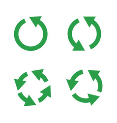green reusable arrow icons eco recycle or vector image