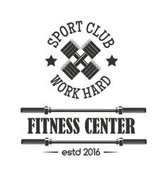 Gym sport club fitness emblem vector