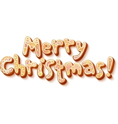 Hand lettering sweets Merry Christmas sign vector image