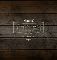 Honey badges logos and labels for any use vector image