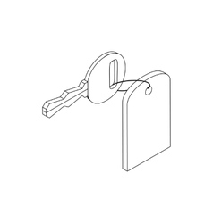 Hotel key icon isometric 3d style vector