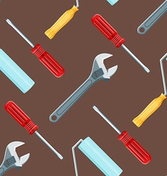 house remodel tools seamless pattern vector image