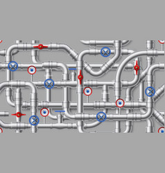 industrial pipeline pattern steel water pipes vector image