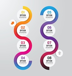 Infographics step design options banner vector image