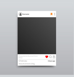 instagram empty photo frame isolated vector image