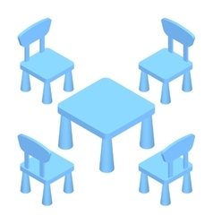 Isometric Children play room Interior furniture - vector image